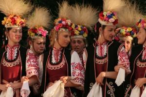 Bulgarian folklore dance performars